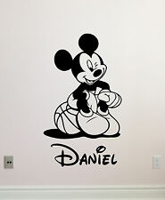 Personalized Mickey Mouse Wall Decal Custom Name Vinyl Sticker Kids Decor 114crt