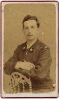 CDV Militare italiano 1870c Foto originale G. Rossi Milano Genova Trieste