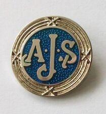 AJS enamel lapel pin badge
