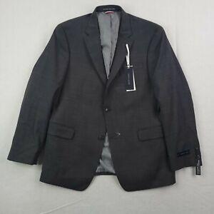New Tommy Hilfiger Blazer Mens 42 Regular Gray Stretch Sports Coat Jacket $425