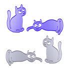 2pcs Cute Cat Embossing Cutting Dies Stencils DIY Scrapbooking Paper Card Crafts