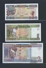 Guinée Lot de 3 billets différents  en état NEUF   Lot N° 2