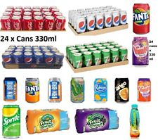 Pepsi 330ml x 24 cans Soft Drinks 7up Coca Cola Pepsi Cans All Fizzy Drinks Cans
