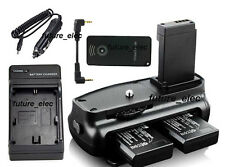 Vertical Battery Hand Grip For Canon EOS 100D Rebel SL1+Remote+2 LP-E12+ Charger
