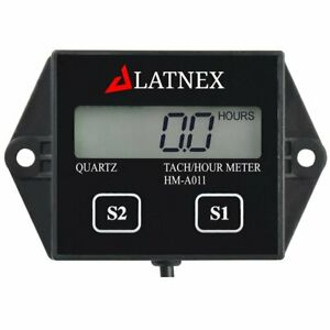Tach/Hour Meter HM-011A LCD Gasoline Inductive Tachometer for Paramotors, Engine