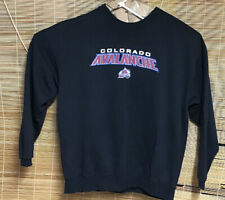 VTG CCM Colorado Avalanche Crewneck Sweatshirt Black Size XL