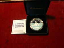 2003 East Caribbean states ten dollars silver coin - Last flight of Concorde
