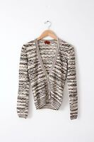 Missoni cardigan knit v-neck sweater rayon linen white size 38 size S