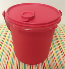 Tupperware Bucket with Handle Coral 5qt New