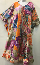 Nwt FUNKY STUFF floral gypsy cotton ROBE TOP DUSTER COVERUP 2X 22W Free shipping