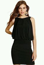 GUESS BY MARCIANO Black Cherie Bubble Top SIZE S