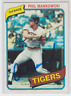 Autographed 1980 Topps Phil Mankowski - Tigers
