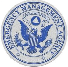 "EMERGENCY MANAGEMENT AGENCY HIGHLY REFLECTIVE DECAL 4"" CIRCLE"