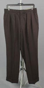Men's 1950s Hickey Freeman Drop Loop Dress Slacks 33x29 50s Vtg Pants