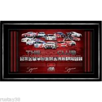 HOLDEN RACING GARTH TANDER SIGNED FRAMED 200 CLUB PRINT PETER BROCK BATHURST V8