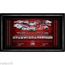 HOLDEN RACING GARTH TANDER SIGNED FRAMED 200 CLUB PRINT PETER BROCK BATHURST V8
