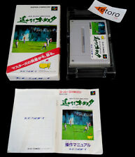 NEW 3D GOLF SIMULATION AUGUSTA NATIONAL GOLF Super Famicom Nintendo SNES SFC Jap