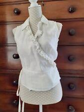 Scapa linen sleeveless wrap shirt size 40