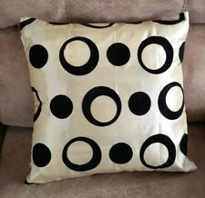 """Throw Pillow Cover Boat RETRO Pattern  15"""" x 15 Tan Beige Circles Pillow Cover"""
