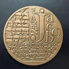 """Monnaie de Paris, 1976 Biblical """"Jacob"""" / signed / 69 mm / Bronze Medal / M74"""