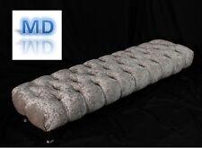 Crushed Velvet Chesterfield Pouffe Footstool Bed Stool Silver Mink Black Diamond