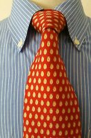 Brooks Brothers Printed in Italy made in USA Silk Tie Necktie Neck red paisley