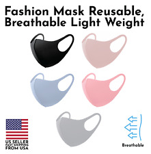Set of 2 Fashion 3D Face Mask Washable Reusable Breathable Choose Your Own Color