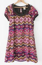 Vertigo Paris Tunic Dress Cap Sleeve Multi-color Polyester Size S