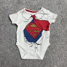 Asda George Dc Marvel Superman Babygrow Age 3-6 Months Boys