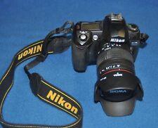Nikon D70 6.1MP Digital SLR DSLR Camera Body With Sigma Lens