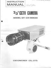 "Chuomusen original service mode d'emploi pour 2/3"" CCTV-Camera qit-230"