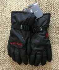 Spyder Mens Bolster Ski Gloves Black Size L/XL Large/XLarge Warm Winter