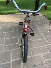 """Vintage/retro Schwinn Red/white Kids Unisex Pixie 16"""" Bicycle Rubber Wheels"""