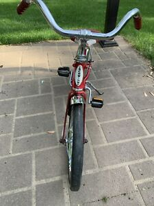 "Vintage/retro Schwinn Red/white Kids Unisex Pixie 16"" Bicycle Rubber Wheels"