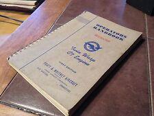 Pratt & Whitney Twin Wasp C7 Engines Operators Handbook