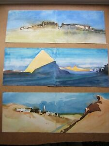 3 Fine Post-Impressionist Painting's c.1960, ORIENTALISM, All 3 Exhibited, EGYPT