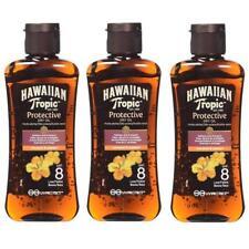 3 x Hawaiian Tropic Travel Size SPF 8 Protective Dry Tanning Oil Mini 100ml