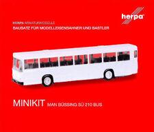 HERPA MiniKit 1:87 MAN Büssing S�œ 210 Bus Bausatz elfenbein / beige #013246 NEU