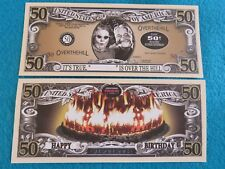 BIRTHDAY <> Over the Hill at 50 Years Old <> Fun $1,000,000 One Million Dollars