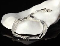 "Triple Strand Ladies Statement Bracelet 925 Sterling Silver 7.5"" Jewellery Box"