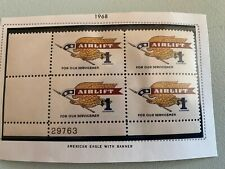 US Stamps SC# 1341 Airlift $1 PB MNH 1968