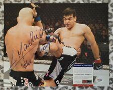 Lyoto Machida UFC autographed signed 11x14 photo coa Psa/Dna #aa86275