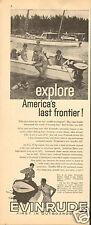 1961 Print Ad of Evinrude Starflite III Motor Explore America's Last Frontier!