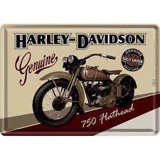 HARLEY DAVIDSON MOTORCYCLE FLATHEAD VINTAGE BIKE MOTORCYCLE Metal Sign 15x20cm
