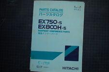 HITACHI EX750 EX850H-5 Excavator Component Parts Manual Catalog Book Spare 1998
