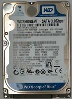 """250 GB SATA  Western Digital  WD2500BEVT-08A23T1 2,5"""" Festplatte generalüberholt"""
