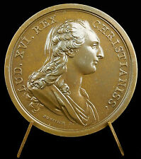 Médaille Louis XVI Marie Antoinette sc L Duvivier le Roi la Reine refrappe medal
