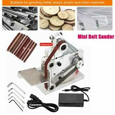 NEW US Mini Belt Sander Knife Edge Sharpener DIY Polishing Grinding Machine 110V