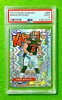 BAKER MAYFIELD KABOOM SILVER PRIZM ROOKIE CARD  PSA 9  BROWNS RC 2018 Panini SSP