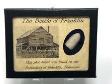 Shot Bullet Relic from The Battle of Franklin, TN with Display Case and COA